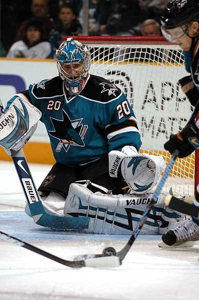 Evgeni Nabokov San Jose Sharks goaltender NHL photo