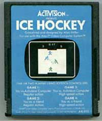 activision atari 2600 ice hockey cartridge