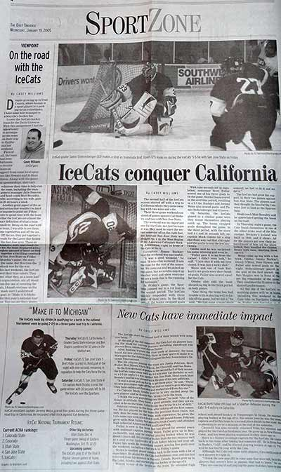BYU hockey newspaper