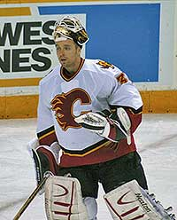 Miikka Kiprusoff will face the San Jose Sharks in round three