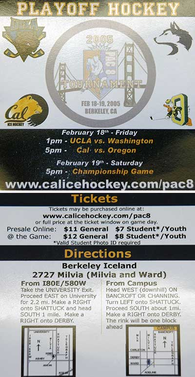 Pac 8 Hockey Tournament flyer