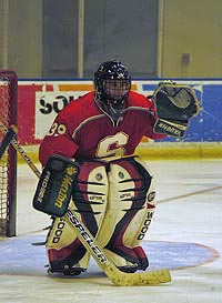 Stanford hockey goaltender