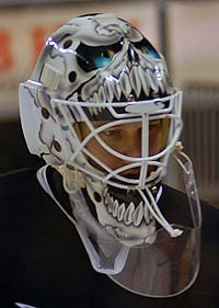 Vesa Toskala goalie mask photo