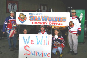 Mississippi Sea Wolves ECHL Hurricane