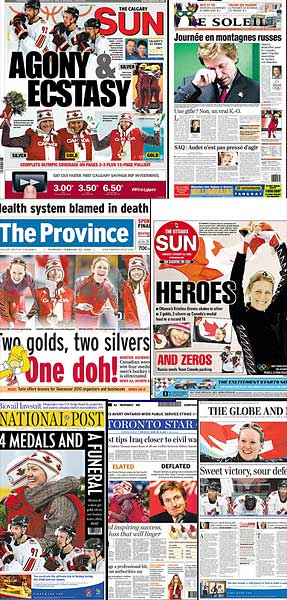 Canadian Newspapers on Team Canada