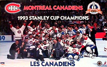 1992-93 Stanley Cup Champion Les Montreal Canadiens