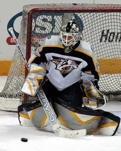 Nashville Predators goaltender Chris Mason