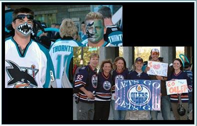 San Jose Sharks Edmonton Oilers fans
