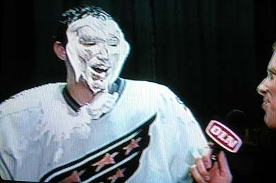 Ovechkin pie in the face