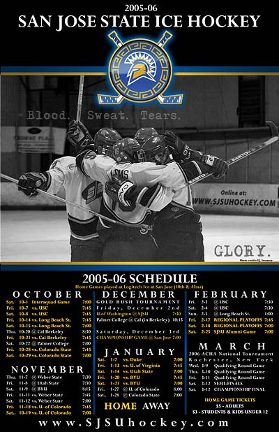 SJSU hockey calender