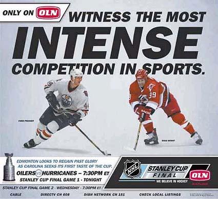 Stanley Cup Finals OLN Edmonton Oilers Carolina Hurricanes