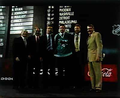 Devin Setoguchi San Jose Sharks 2005 1st round draft pick